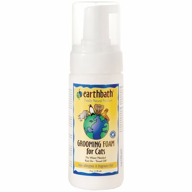 Earthbath Hypo-Allergenic Grooming Foam for Cats (4 oz)
