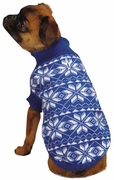 East Side Collection Holiday Snowflake Sweater Blue