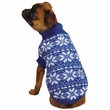 East Side Collection Holiday Snowflake Sweater Blue - XX-SMALL