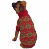 East Side Collection Holiday Snowflake Sweater Red - XX-SMALL