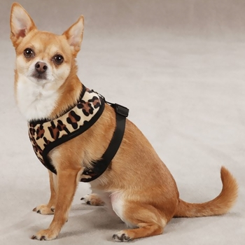 East Side Collection Plush Print Harness Leopard - Large