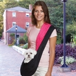 East Side Collection Reversible Sling Pet Carrier - Black/Pink