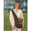 East Side Collection Reversible Sling Pet Carrier - Brown/Pink