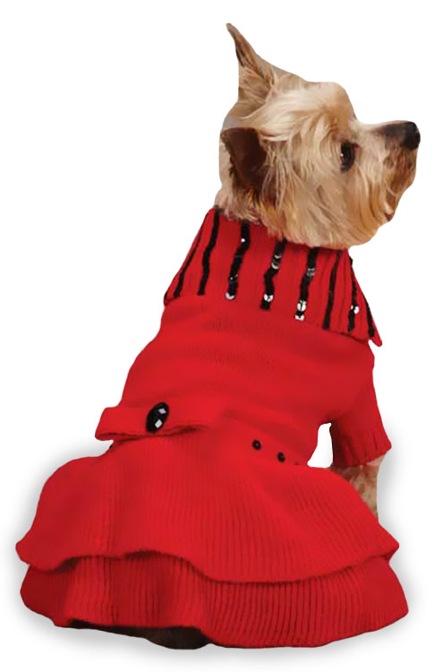 "East Side Collection Scarlet Knit Dresses Red - S/M (14"")"