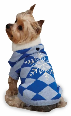 "East Side Collection Snowflake Snuggler Sweaters Blue - S/M (14"")"