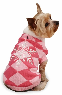 """East Side Collection Snowflake Snuggler Sweaters Pink - L (20"""")"""