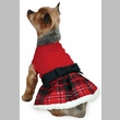 East Side Collection Yuletide Tartan Party Dress Small/Medium Red