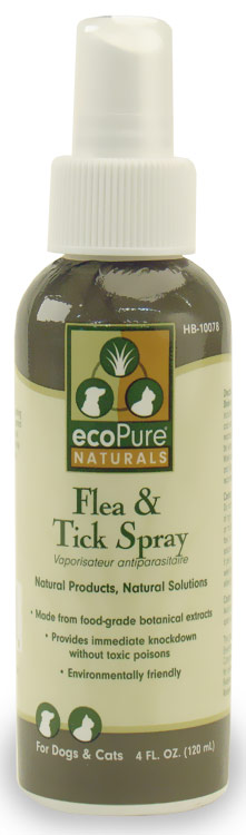 EcoPure Natural Flea & Tick Spray (4 oz)