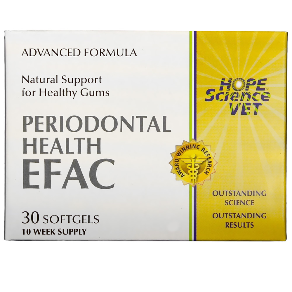 EFAC Periodontal Health Advance Formula for Dogs & Cats (30 Softgels)