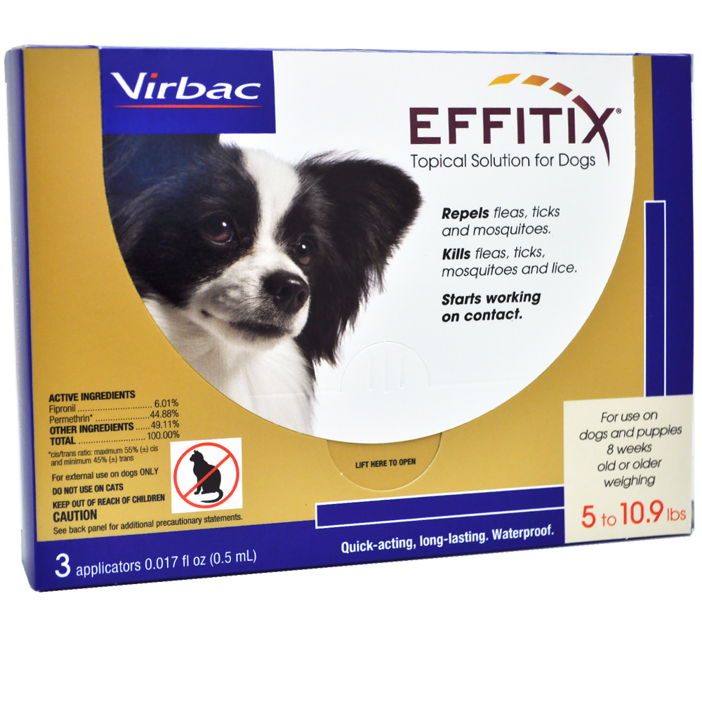 effitix topical solution for dogs 5 10 9 lbs   3 months