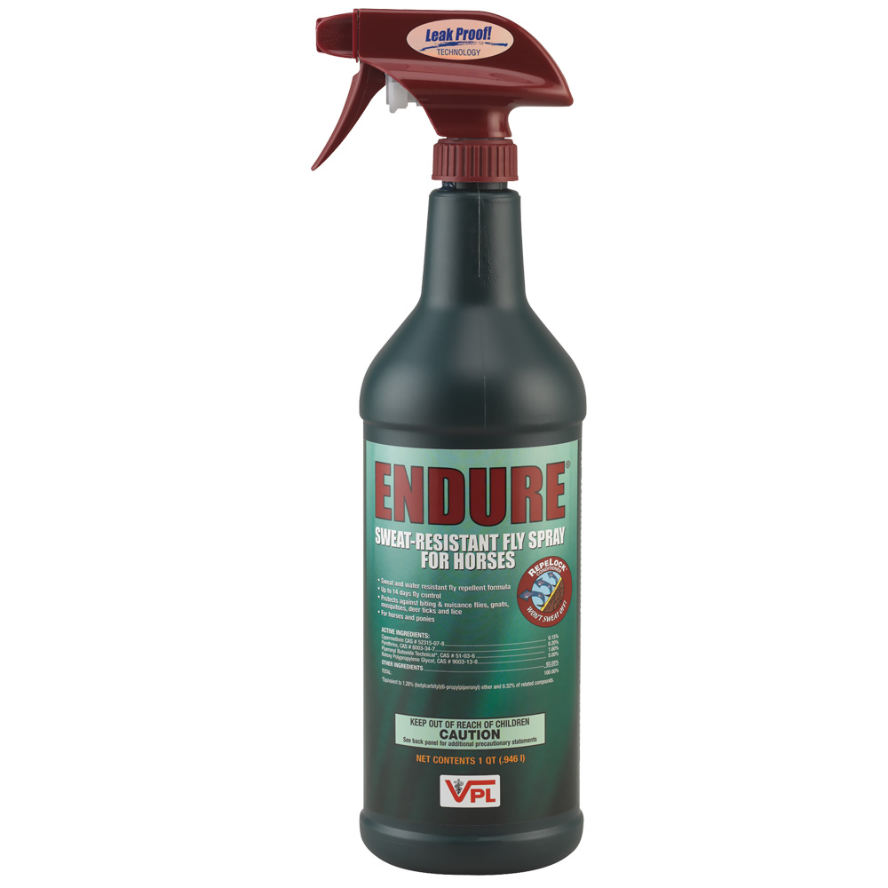 Endure: Sweat-Resisitant Fly Spray For Horses (32oz)