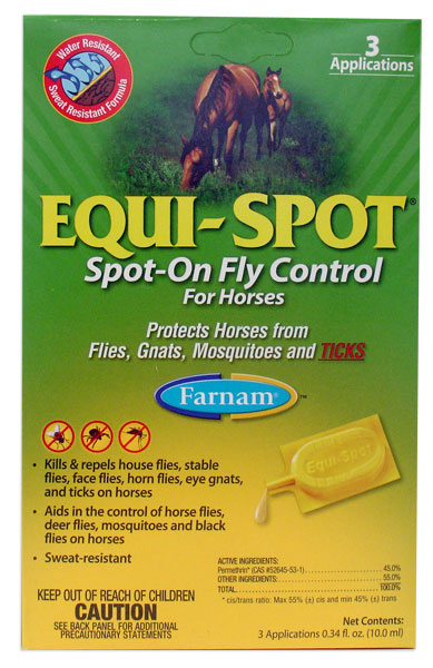 Equi-Spot: Spot-On Fly Control for Horses (3 10mL tubes)