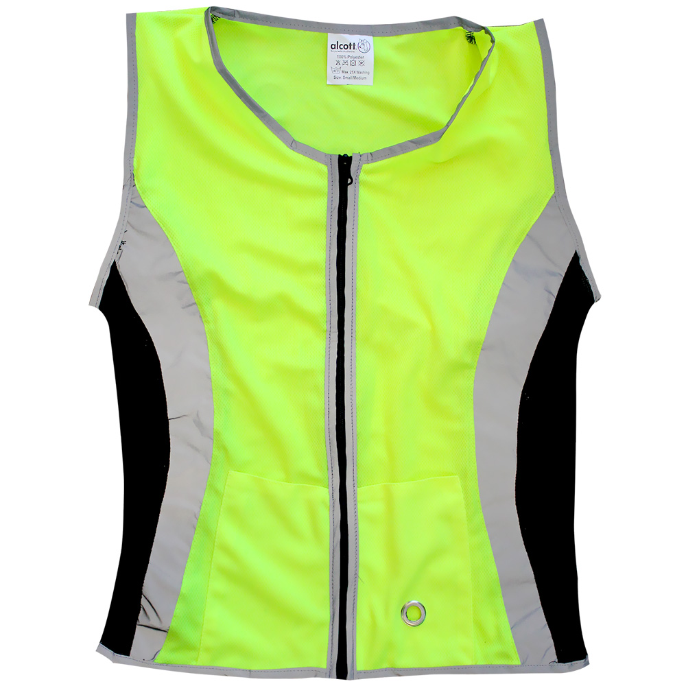 Essential Visibility Women's Reflective Dog Walking Vest Neon Yellow - Large