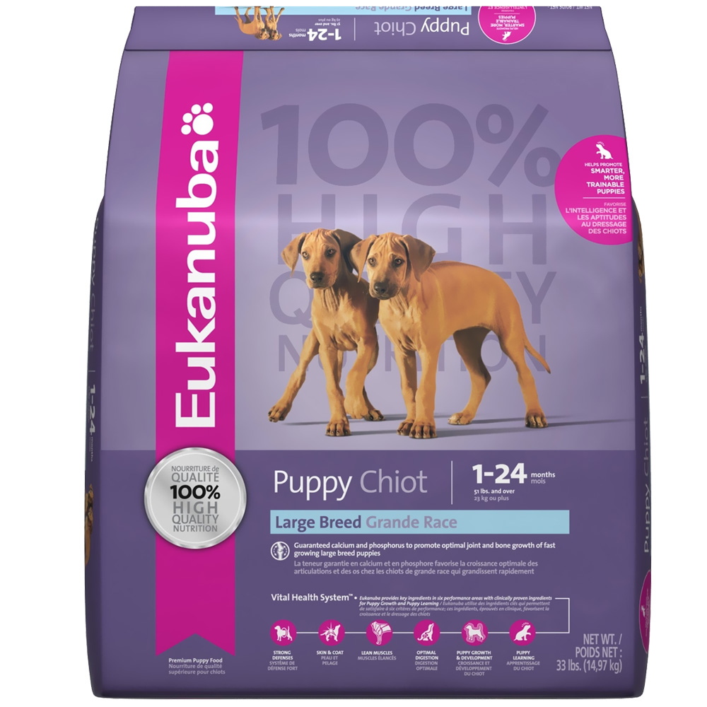 Taste Of The Wild Dog Food Reviews >> Eukanuba® Puppy Large Breed Dog Food (33 lb) | Entirelypets
