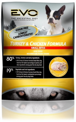 EVO Small Bite Turkey and Chicken Dry Dog Food (6.6 lb)