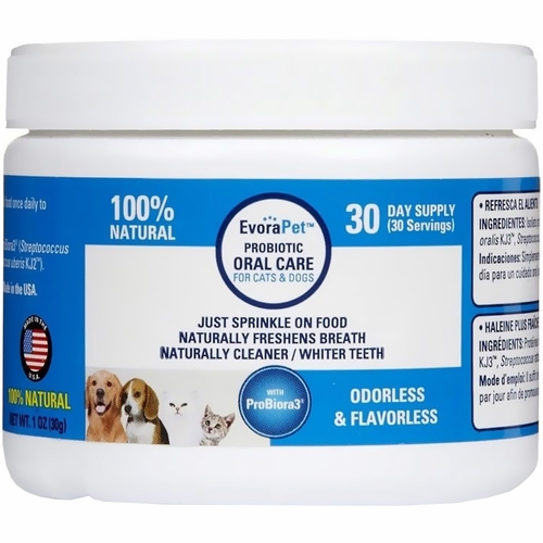 EvoraPet Probiotic Oral Care 30 Day Supply (30 gram)