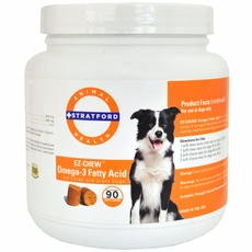 EZ-CHEW Omega-3 Fatty Acid for Large & Giant Breeds (90 Soft Chews)