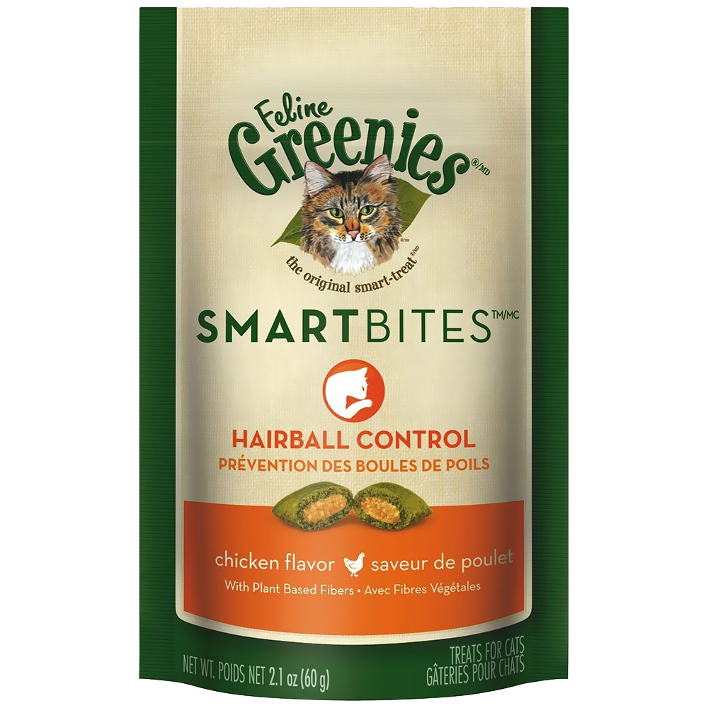 Feline Greenies SMARTBITES Hairball Control Chicken (2.1 oz)