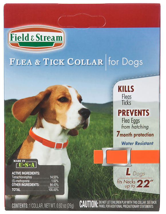 Field & Stream Flea & Tick Collar for Dogs with Necks up to 22""