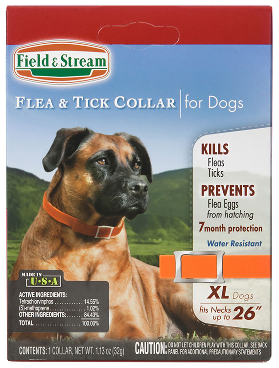 Field & Stream Flea & Tick Collar for Dogs with Necks up to 26""