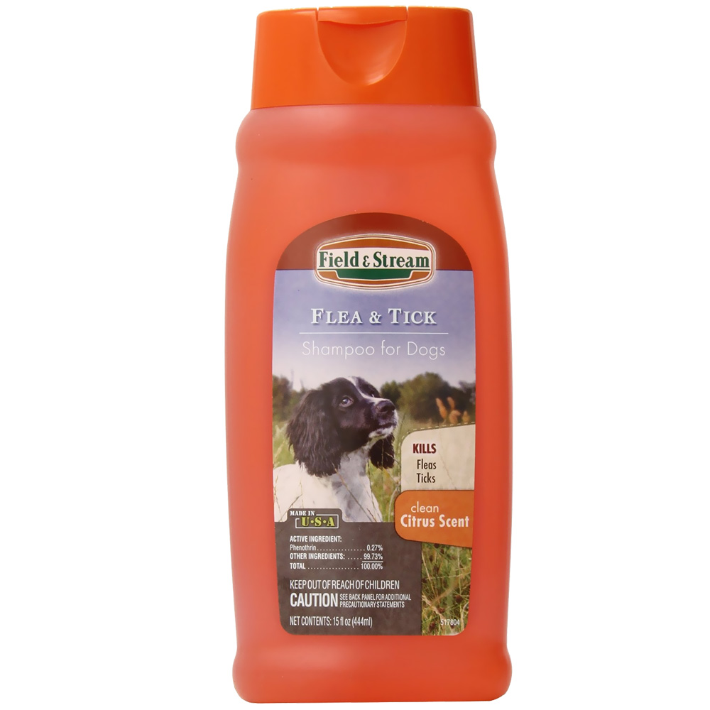 Field & Stream Flea & Tick Shampoo for Dogs Citrus Scent (15 oz)