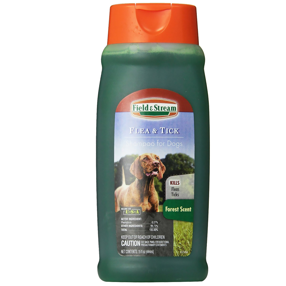 Field & Stream Flea & Tick Shampoo for Dogs Forest Scent (15 oz)