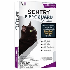 Fiproguard Flea & Tick Squeeze-On for Cats, 3-PACK