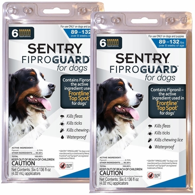 Fiproguard Flea & Tick Squeeze-On for Dogs 89-132 lbs, 12-PACK