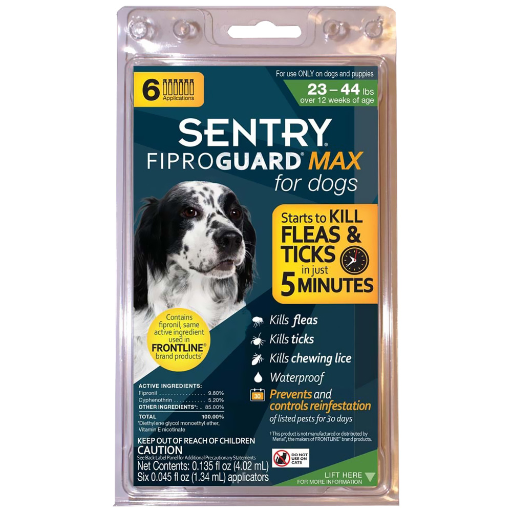 FiproGuard MAX Dog Flea & Tick Squeeze-On 23-44 lbs - 6-PACK