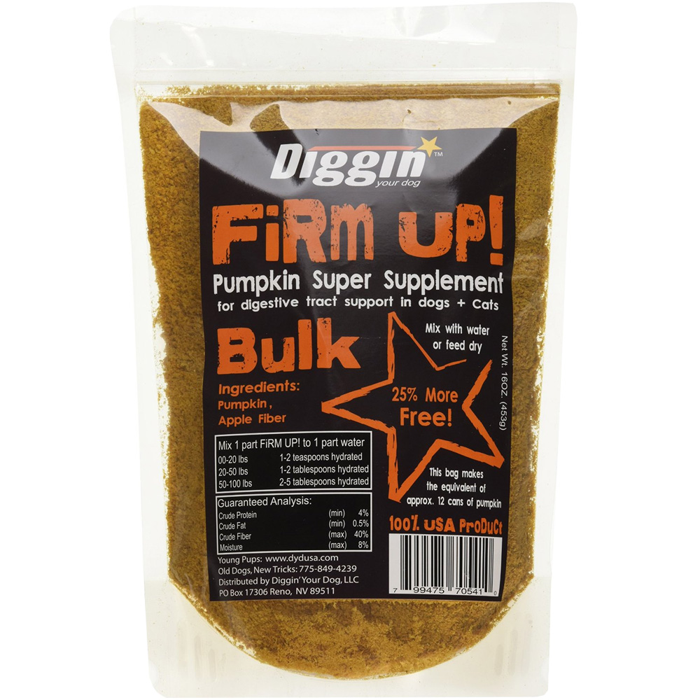 Firm Up! Pumpkin Digestive Tract Support for Dogs & Cats (16 oz)