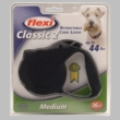 Flexi Classic 2 Retractable CORD Leash for Dogs up to 44 lbs (Black)