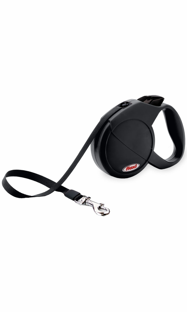 Flexi Durabelt Belt Retractable Leash - Medium/Large 77 lbs. - Black 16 ft.