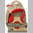 Flexi Durabelt Belt Retractable Leash - Medium/Large 77 lbs. - Red 16 ft.