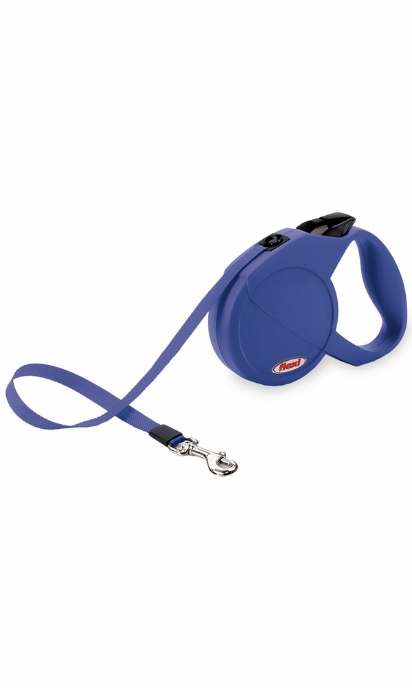 Flexi Durabelt Belt Retractable Leash - Small/Medium 44 lbs. - Blue 16 ft.