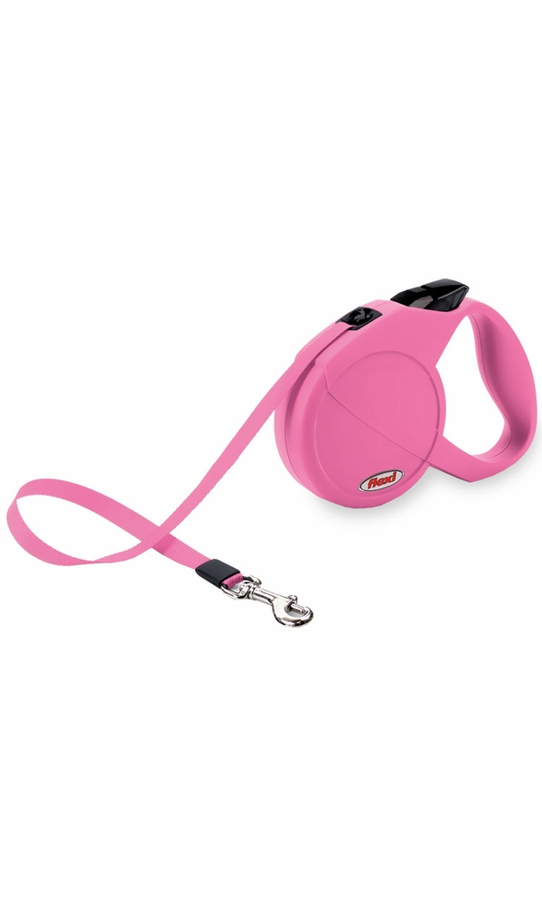 Flexi Durabelt Belt Retractable Leash - Small/Medium 44 lbs. - Pink/Rose 16 ft.