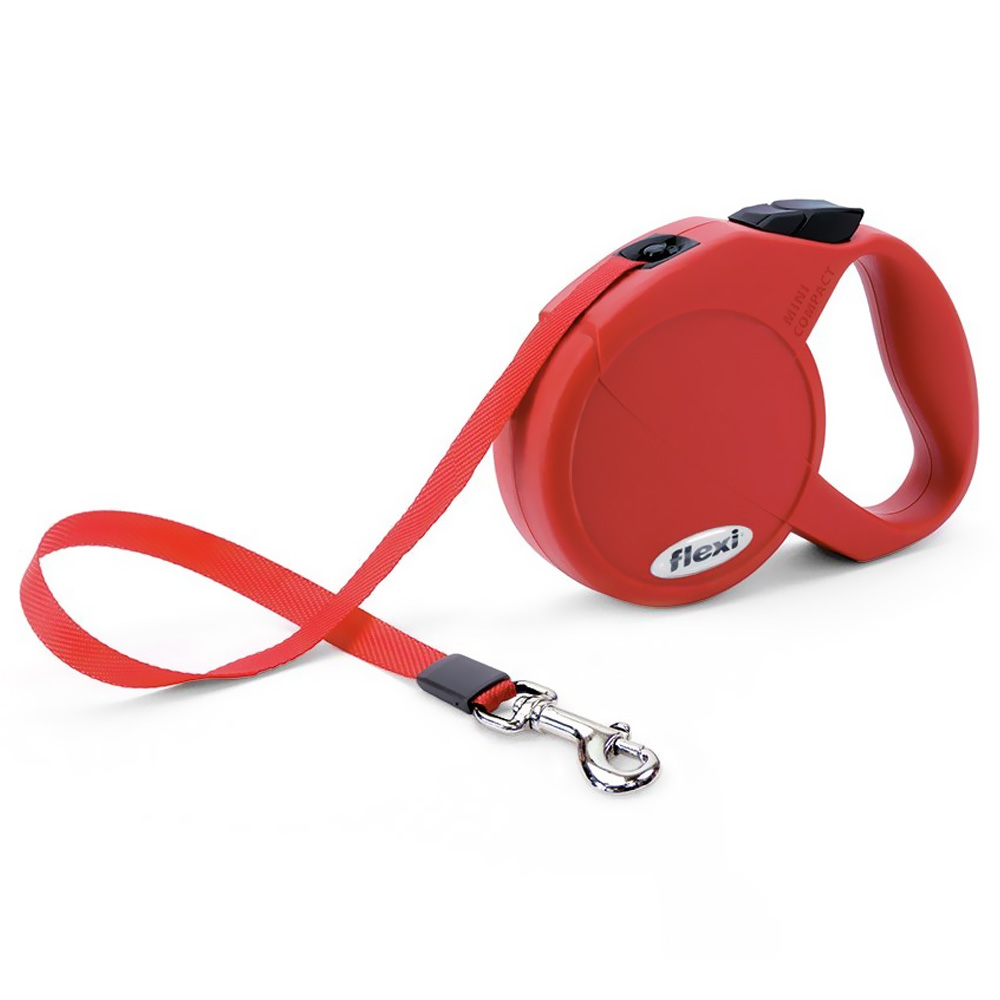 Flexi Durabelt Belt Retractable Leash - XSmall 26 lbs. - Red 10 ft