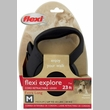 Flexi Explore Cord Retractable Leash - Medium 44 lbs. - Black 23 ft.