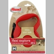 Flexi Explore Cord Retractable Leash - Medium 44 lbs. - Red 23 ft.