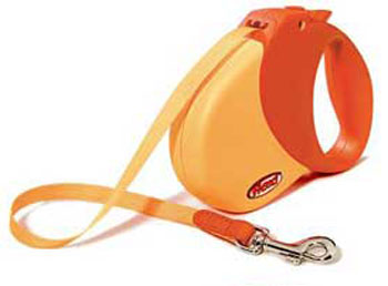 Flexi Expression Retractable Leash Orange - Small/Medium