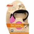 Flexi Freedom Cord Retractable Leash - Medium 44 lbs. - Pink/Black 16 ft.