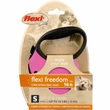 Flexi Freedom Cord Retractable Leash - Small 26 lbs. - Pink/Black 16 ft.