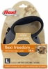 Flexi Freedom Tape Retractable Leash - Large 110 lbs. - Granite Grey/Black 16 ft.