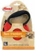 Flexi Freedom Tape Retractable Leash - Large 110 lbs. - Red/Black 16 ft.