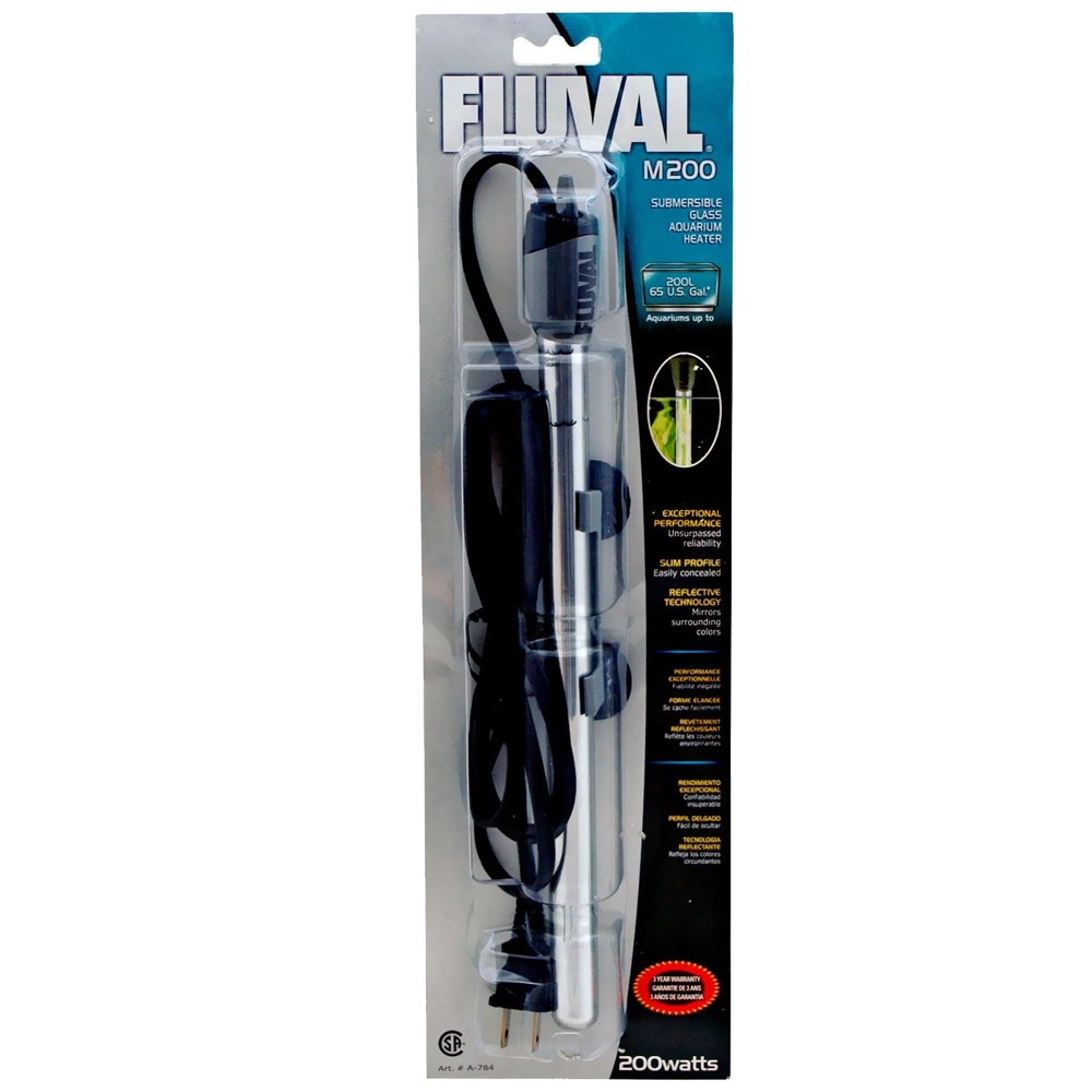 Fluval M200 Submersible Glass Aquarium Heater (200 watts)