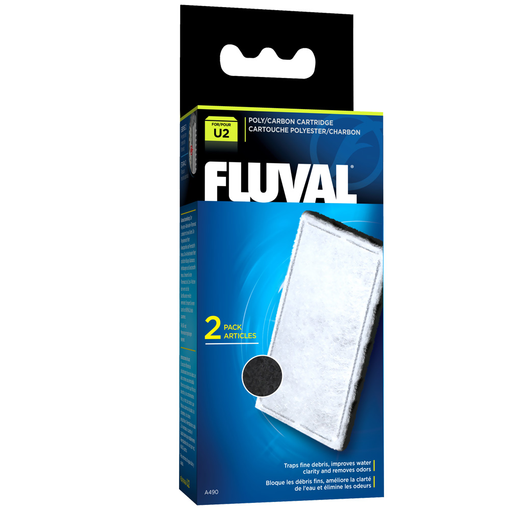 Fluval U2 Filter Poly/Carbon Catridge (2 pack)