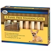 Four Paws Free Standing 3 Panel Walk Over Wood Gate