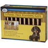 Four Paws Free Standing 5 Panel Walk Over Wood Gate