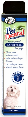 Four Paws Pet Dental Tartar Control Toothpaste for Dogs (2.5 oz)