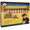 """Four Paws Walk Over Wooden Safety Gate ( 30-44"""" W x 18"""" H )"""