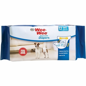 Four Paws Wee-Wee Dog Diapers Small (12 diapers)